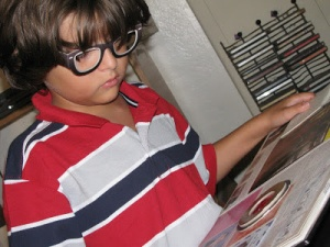 My Nerdboy back in the day with his secret spy glasses