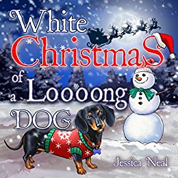 White Christmas of a Loooong Dog