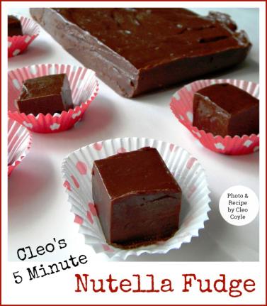 Five Minute Nutella Fudge